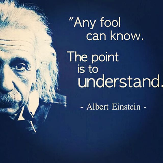 Any fool can know The point is to understand