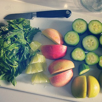 Basil Apple Cucumber amp Lime Juice 1 huge handful freshhellip