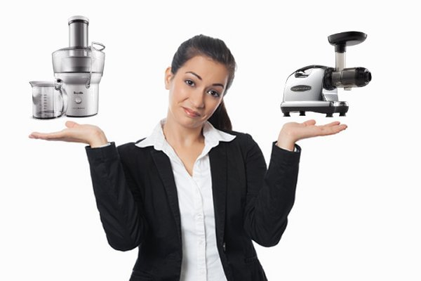 Woman Choosing Juicer